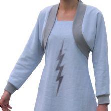 Linen, bolero jacket with silk lining